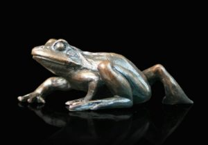 Photo of Small Frog Walking Bronze Figurine (Limited Edition) Keith Sherwin