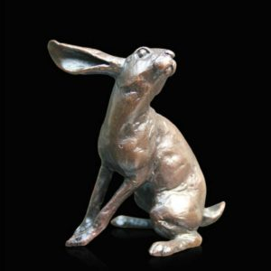 Photo of Small Hare Listening Bronze Figurine (Limited Edition) Michael Simpson