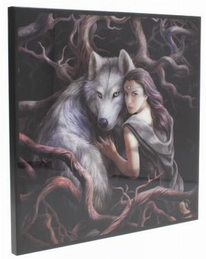 Photo of Soul Bond Crystal Clear Wolf Picture (Anne Stokes)