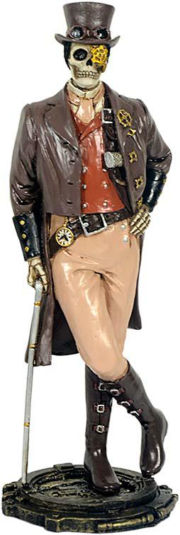 Photo of Steampunk Gentleman Skeleton Figurine 21cm
