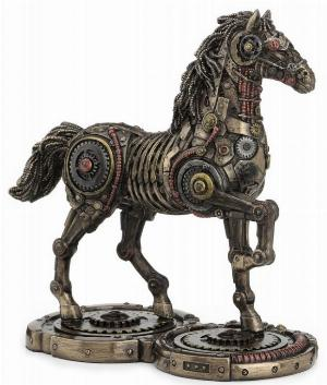 Photo of Steampunk Horse Bronze Figurine