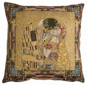 Phot of The Kiss By Gustav Klimt Tapestry Cushion I