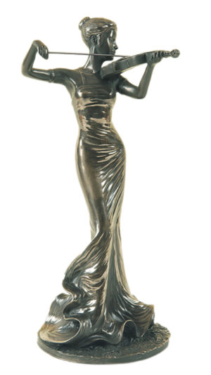 Photo of The Violinist Bronze Figurine Genesis Fine Arts