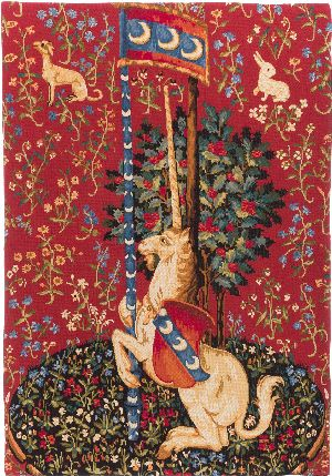 Phot of Unicorn Medieval Wall Tapestry