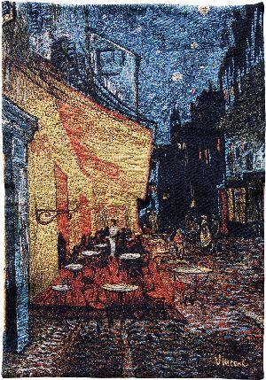 Phot of Van Gogh Café Terrace At Night Wall Tapestry