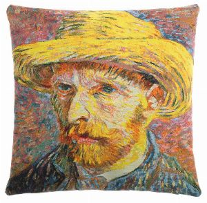 Phot of Van Gogh Self Portrait Tapestry Cushion