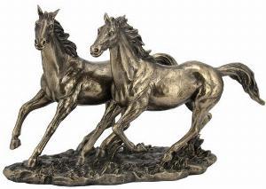 Photo of Wild Horses Bronze Figurine
