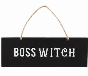 Photo of Witch Boss Wall Sign