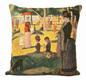 Phot of A Sunday Afternoon On The Island Of La Grande Jatte By Georges Seurat Tapestry Cushion Ii