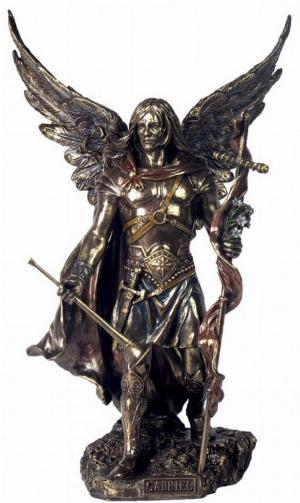 Photo of Archangel Gabriel Male Bronze Figurine 34 cm