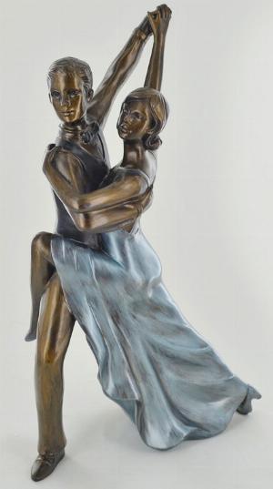 Photo of Ballroom Rumba Dancing Cold Cast Bronze Figurine