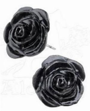 Photo of Black Rose Studs (Pair)