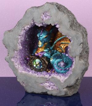 Photo of Blue Mystic Legends Dragon in Cave Light Feature (Juliana)
