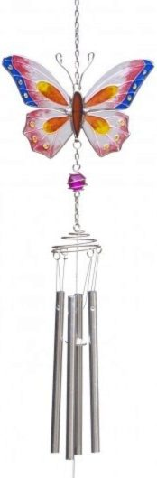 Photo of Butterfly Wind Chime Pink Multi 69cm