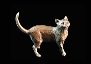Photo of Cat Standing Bronze Miniature (Butler and Peach)