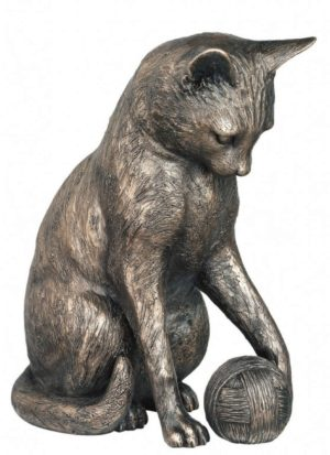 Photo of Curiosity Cat Bronze Figurine 20 cm 2kg