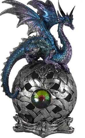 Photo of Eye Of Belgaroth Dragon on Orb Light Feature Figurine (Alator) 21 cm