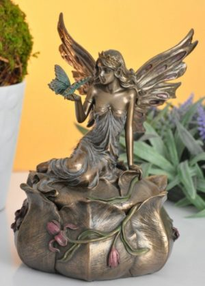 Photo of Fairy with Butterfly Trinket Box Bronze