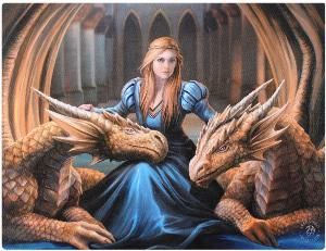 Photo of Fierce Loyalty Canvas Dragon Picture (Anne Stokes) 25 x 20 cm