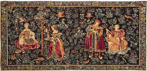 Phot of Gallantry Medieval Wall Tapestry
