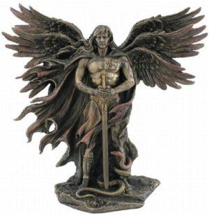 Photo of Guardian Angel Bronze Figurine 28 cm