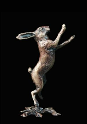 Photo of Hare Boxing Bronze Miniature (Butler and Peach)