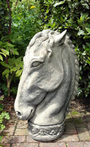 Photo of Horse Head Stone Finial
