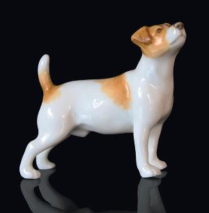 Photo of Jack Russell Hand Painted Fine Bone China Miniature Figurine