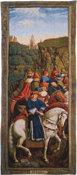 Phot of Just Judges By Jan Van Eyck Wall Tapestry