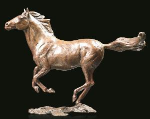 Photo of Liberty Solid Bronze Horse Figurine (Limited Edition) Michael Simpson