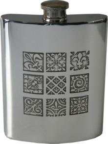 Photo of Medieval Design Pewter Hip Flask