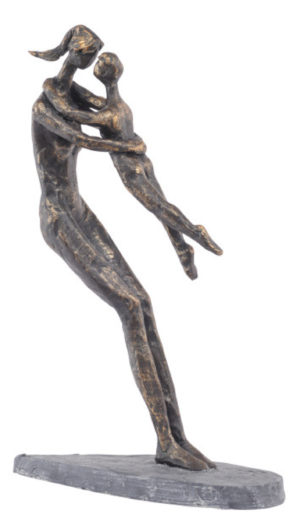 Photo of Mother and Child Bronze Figurine 27 cm