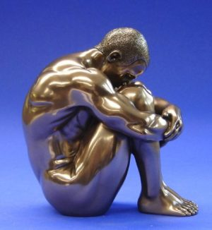 Photo of Nude Man Sitting Bronze Figurine 12 cm