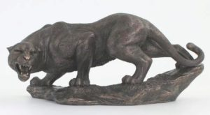 Photo of Panther Bronze Figurine 32 cm