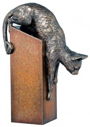Photo of Pounce Bronze Cat Figurine 28 cm
