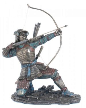 Photo of Samurai Archer Bronze Figurine 23cm