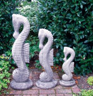 Photo of Set of three Seahorse Stone Ornaments