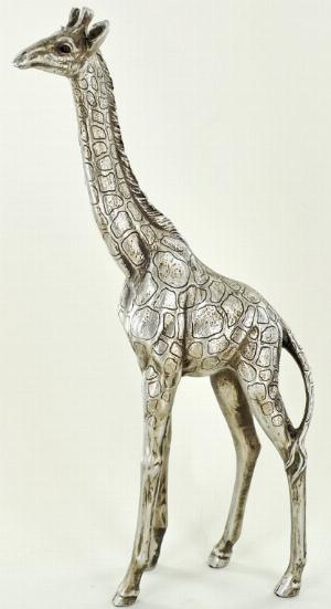 Photo of Silver Giraffe Figurine 27 cm