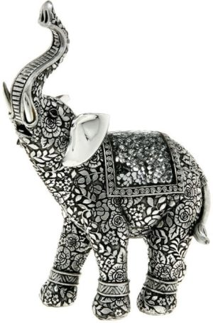 Photo of Silver Trunk Up Elephant Figurine