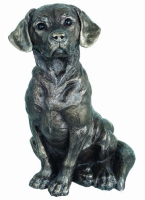 Photo of Sitting Dog Figurine 25 cm Genesis Fine Arts