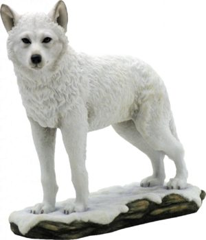 Photo of Snow Wolf Standing Figurine