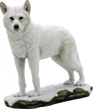 Photo of Snow Wolf Standing Figurine