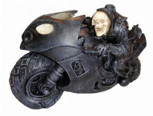 Photo of Speed Freak Skeleton Biker Ornament 20 cm