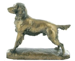 Photo of Springer Spaniel Bronze Dog Sculpture (David Geenty)