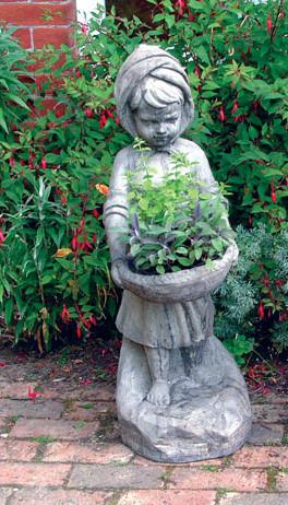 Photo of Swain Girl Stone Statue