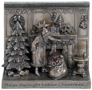 Photo of Twas the Night Before Christmas Bronze Figurine 26cm