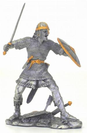 Photo of Viking Attacking Pewter Figurine