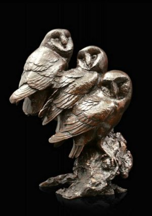Photo of Watchful Figurine Three Barn Owls (Limited Edition) Michael Simpson