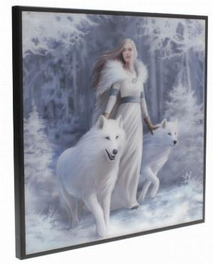 Photo of Winter Guardians Crystal Clear Wolf Picture (Anne Stokes)