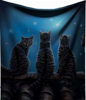 Photo of Wish Upon A Star Throw Three Cats (Lisa Parker) 160cm Large
